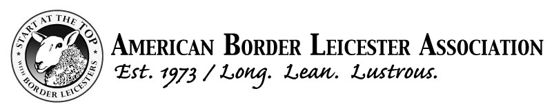header and logo for the american border leicester association, welcome